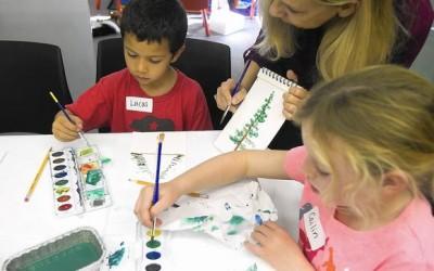 Kids get crafty for book club