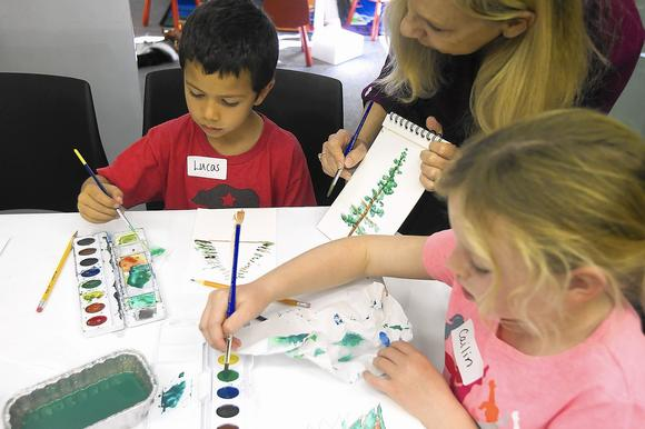 Kids get crafty for book club